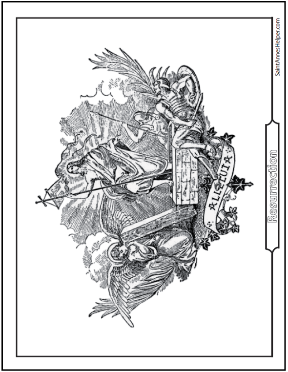 590x762 Printable Easter Coloring Pages Jesus' Resurrection