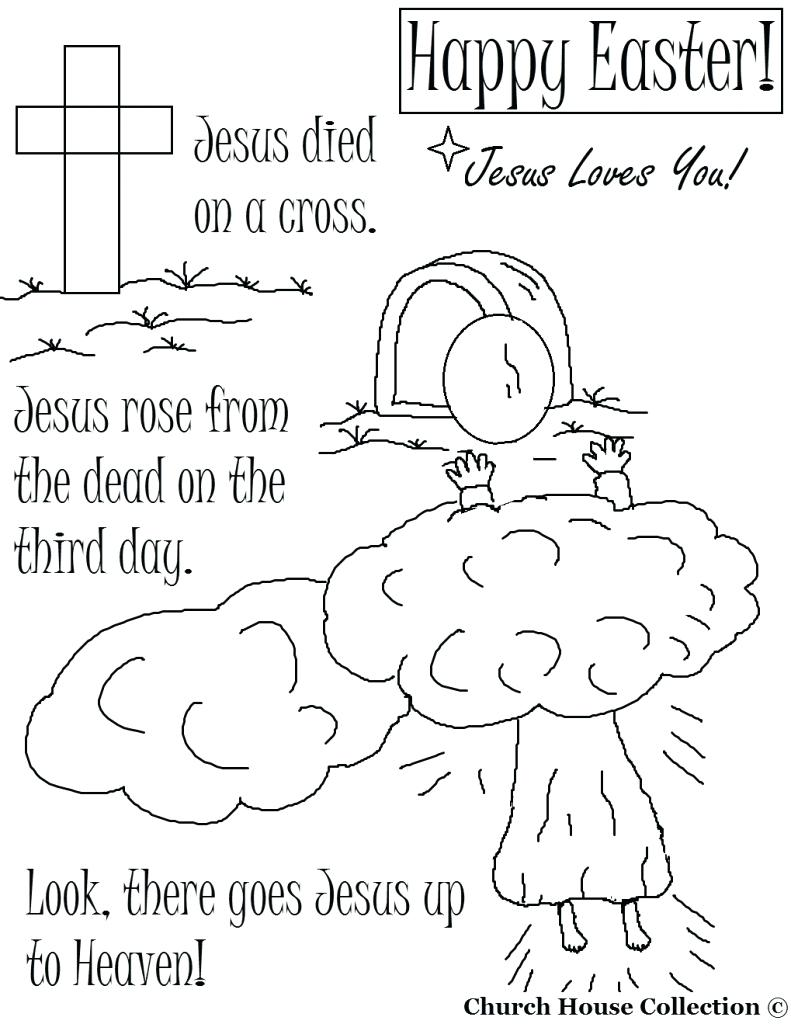 791x1024 Coloring Pages Religious Easter Coloring Pages Surprising He Is