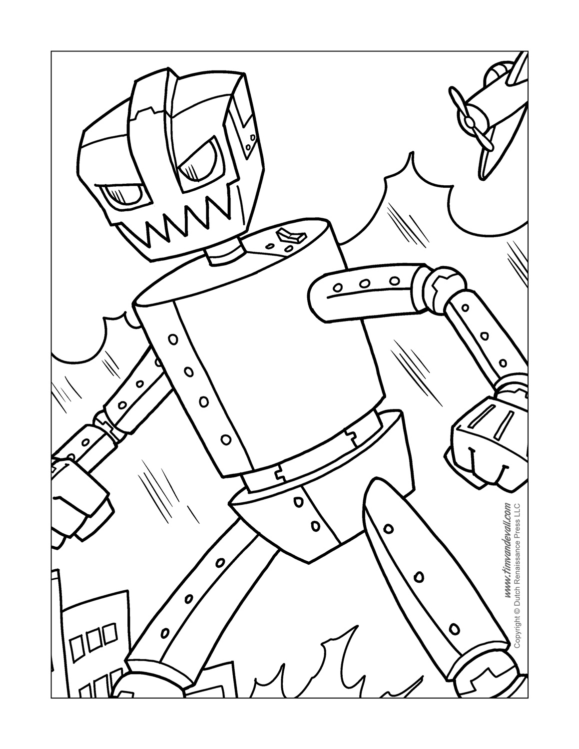 Free Printable Robot Coloring Pages At Getdrawings Com Free For