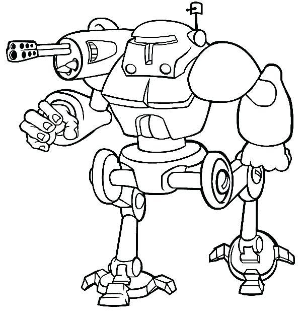 600x627 Robot Coloring Page Robot Coloring Pages Robots Sketch Of Combat