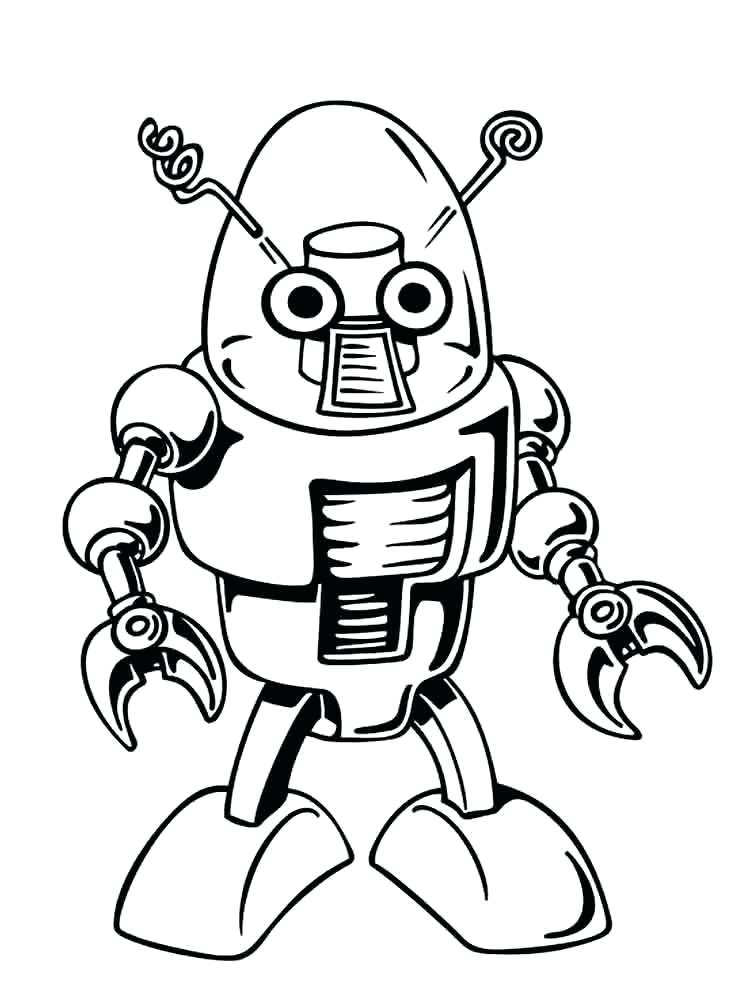 750x1000 Robot Coloring Sheets Free Printable Robots Coloring Pages Robot
