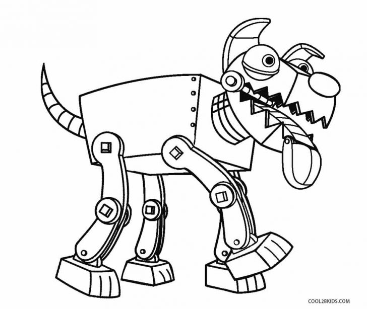 728x614 Robot Dog Coloring Pages