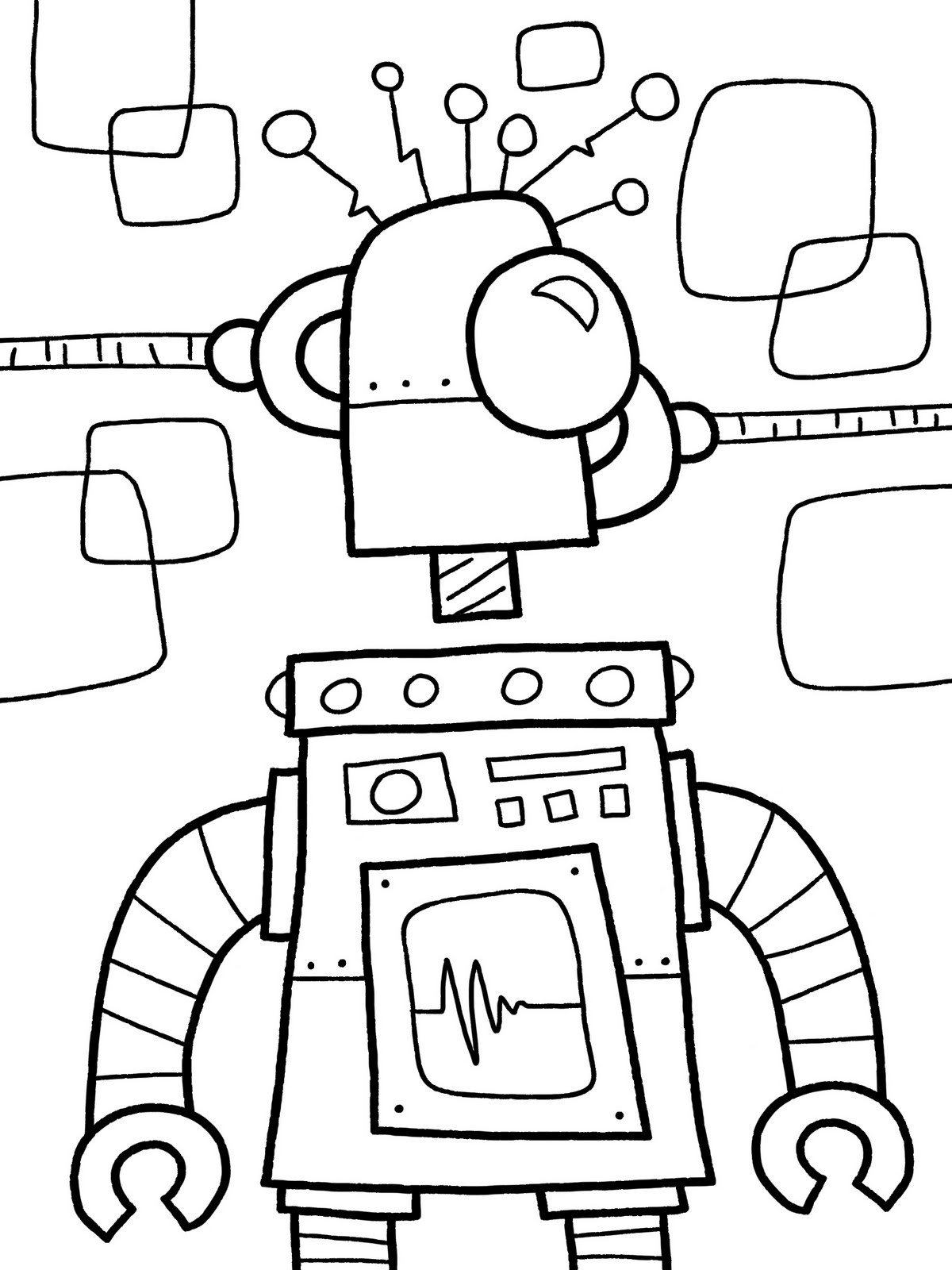 1200x1600 Robots Coloring Pages For Kids Luxury Free Printable Robot