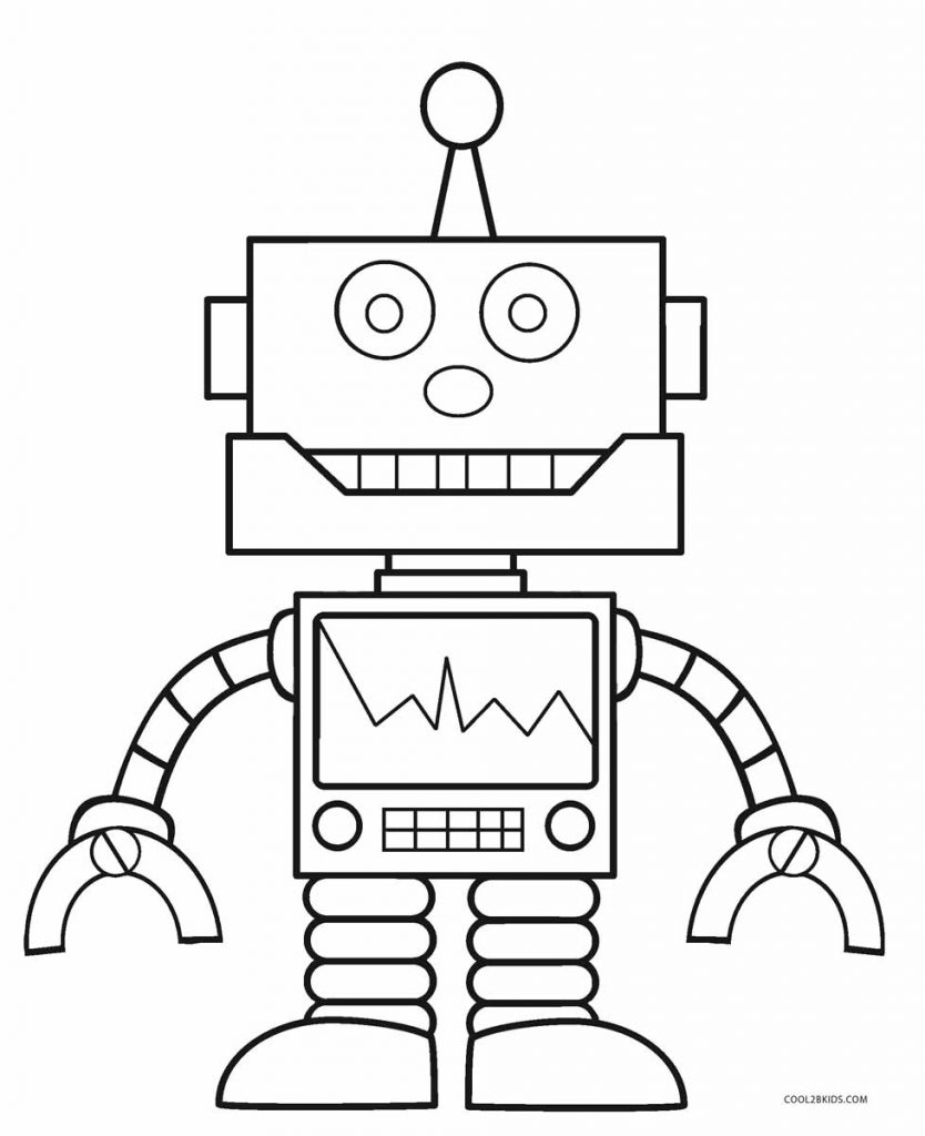 834x1024 Coloring Pages Robot