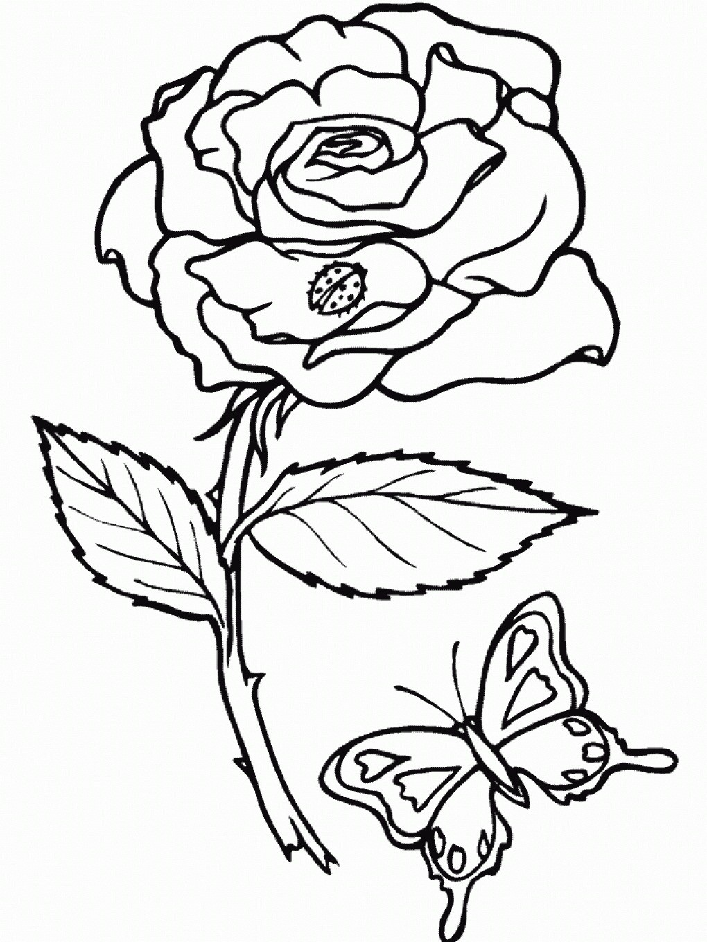 1020x1360 Roses Coloring Pages Free Printable New Roses Coloring Pages