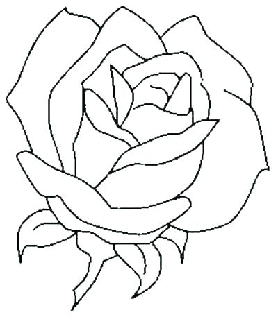 400x457 Coloring Pages Flowers And Hearts Free Printable Rose Coloring