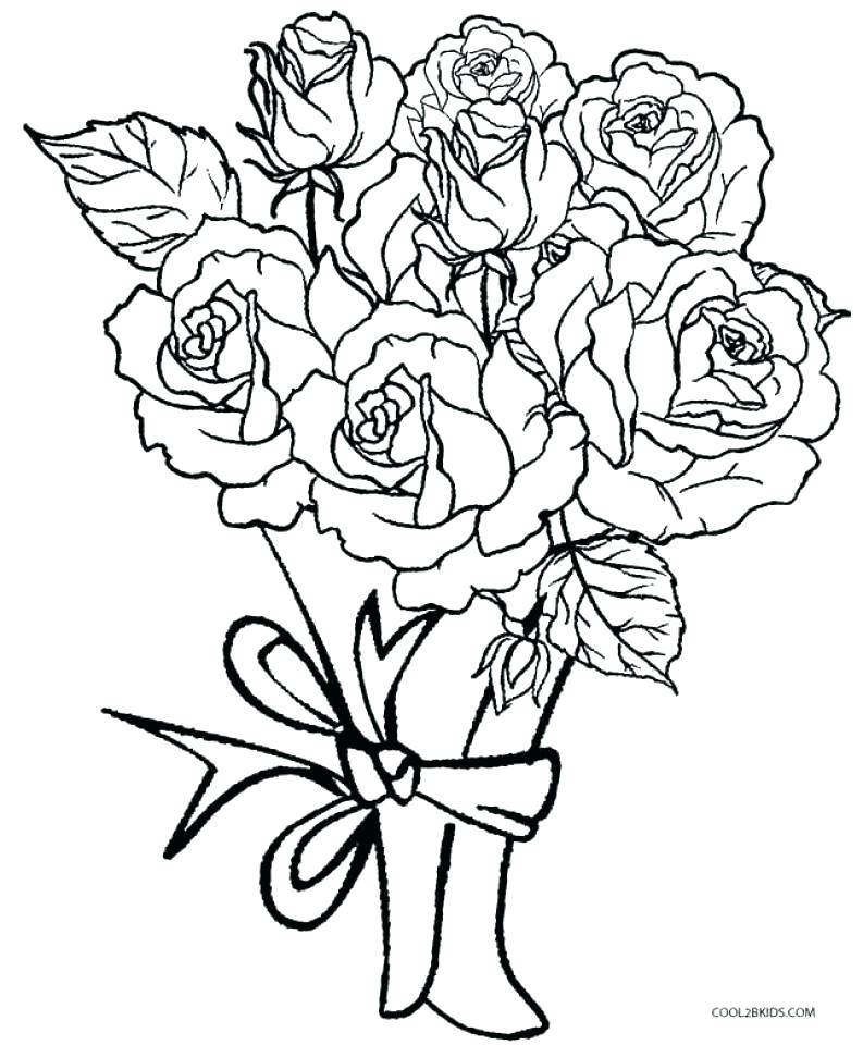 793x960 Rose Coloring Sheets