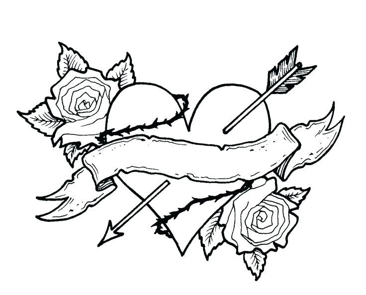 736x593 Coloring Pages Hearts And Flowers Coloring Roses Coloring Pages