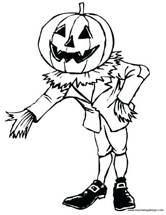 325x420 Free Printable Scarecrow Coloring Pages Page Kids Web Pumpkin Best
