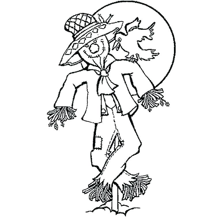 736x762 Free Printable Scarecrow Coloring Sheets Scarecrow Coloring Page