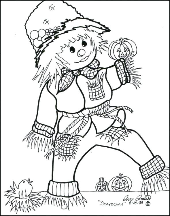 590x752 Free Scarecrow Coloring Pages Scarecrow Coloring Pages Scarecrow