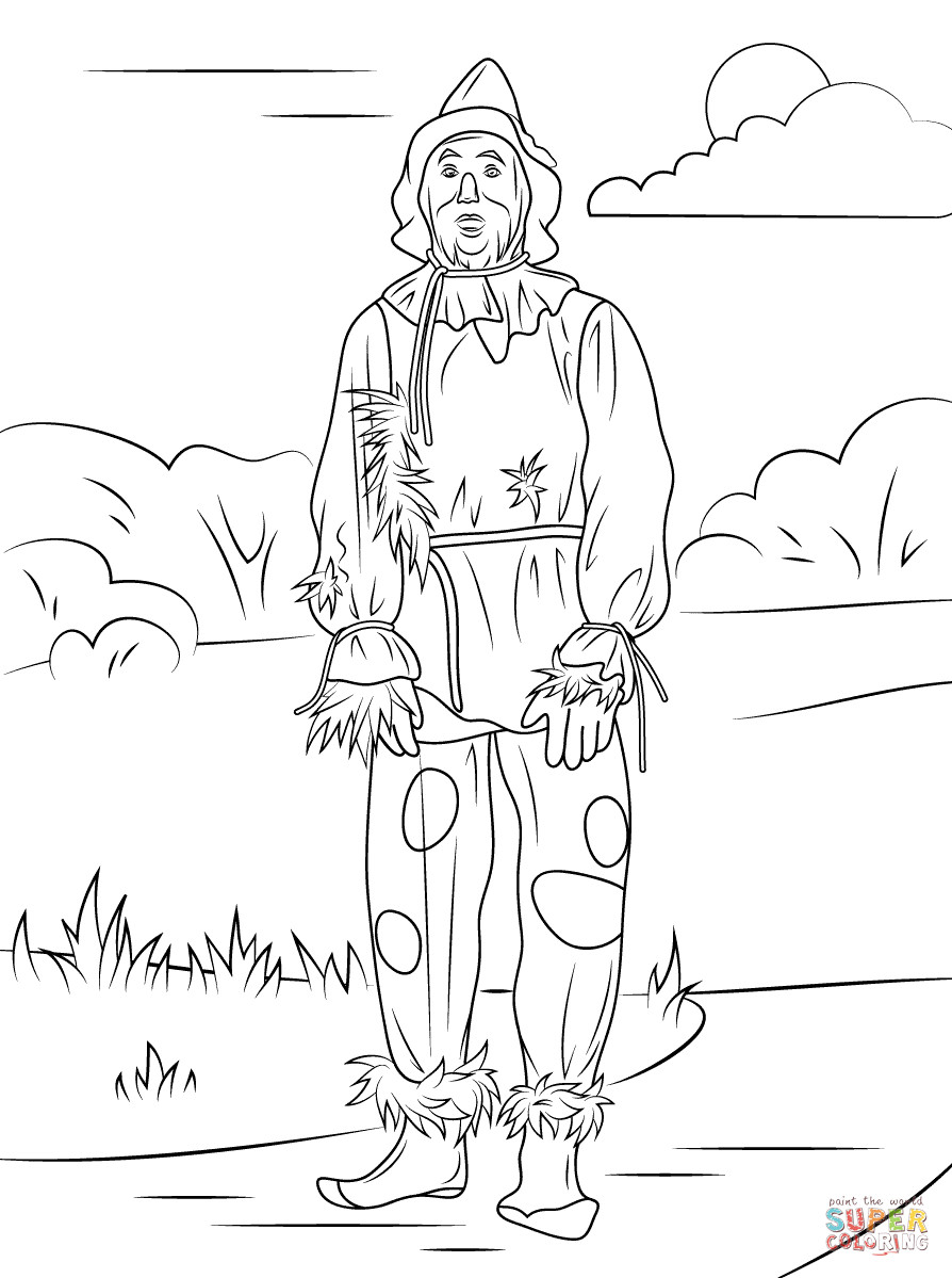 894x1199 Best Scarecrow Coloring Page Wizard Of Oz Free Printable Pages