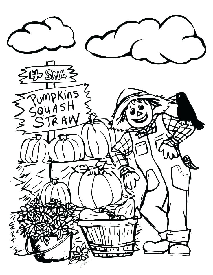 736x951 Scarecrow Coloring Page Autumn Coloring Pages Autumn Coloring