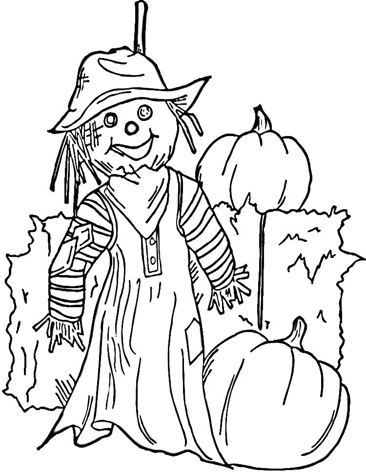 750x968 Scarecrow Coloring Page Free Printable Coloring Pages Crows