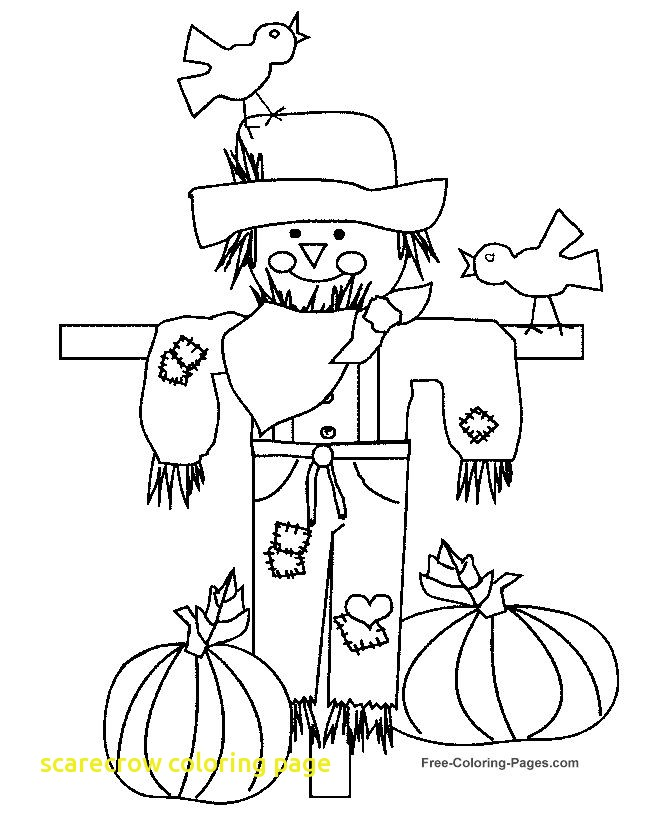 670x820 Scarecrow Coloring Page With Unique Scarecrow Coloring Pages