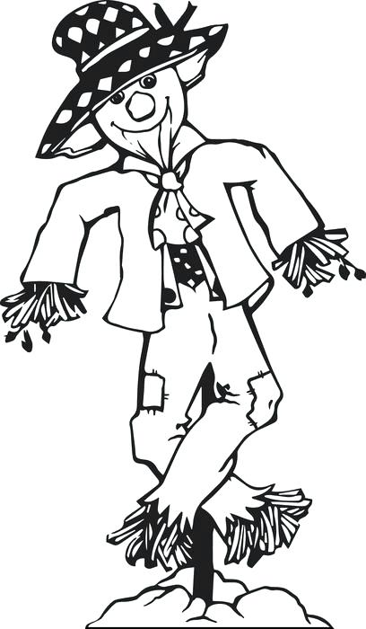 408x700 Scarecrow Coloring Pages Printable Scarecrow Coloring Pages