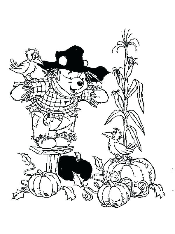 600x800 Scarecrow Coloring Pages Scarecrow Color Pages The Pooh Becomes