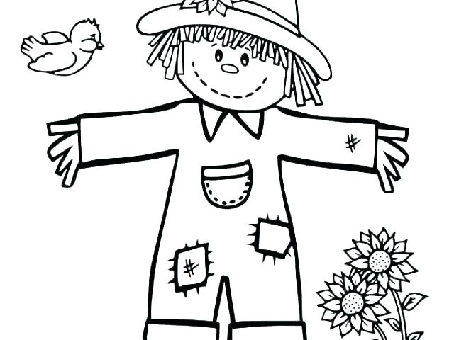 640x480 Scarecrow Coloring Pages Scarecrow Coloring Page Jack O Lantern