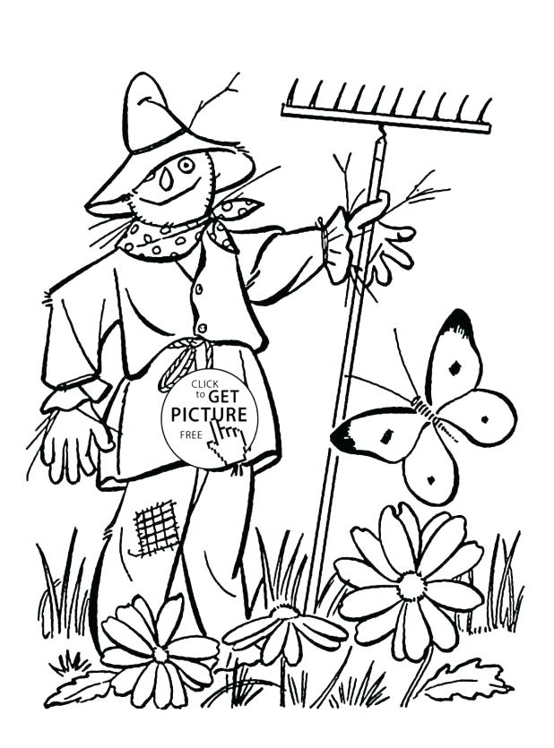 618x835 Scarecrow Coloring Pages To Color Online For Cursed Scarecrow