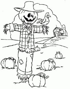 236x300 Stunning Design Scarecrow Coloring Pages Get This Printable