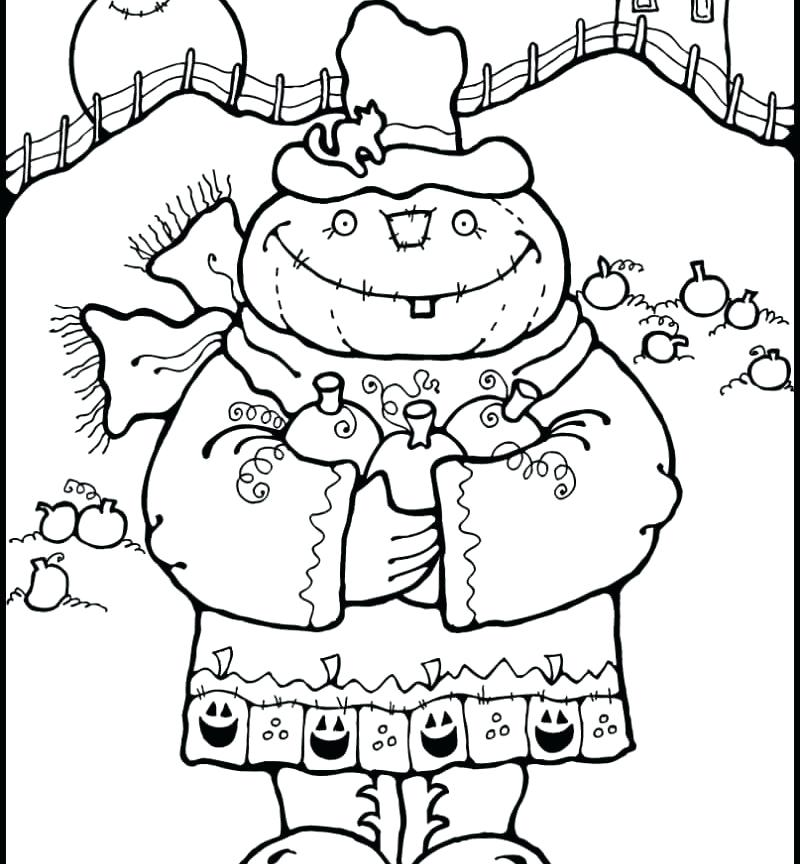 800x864 Scarecrow Coloring Page