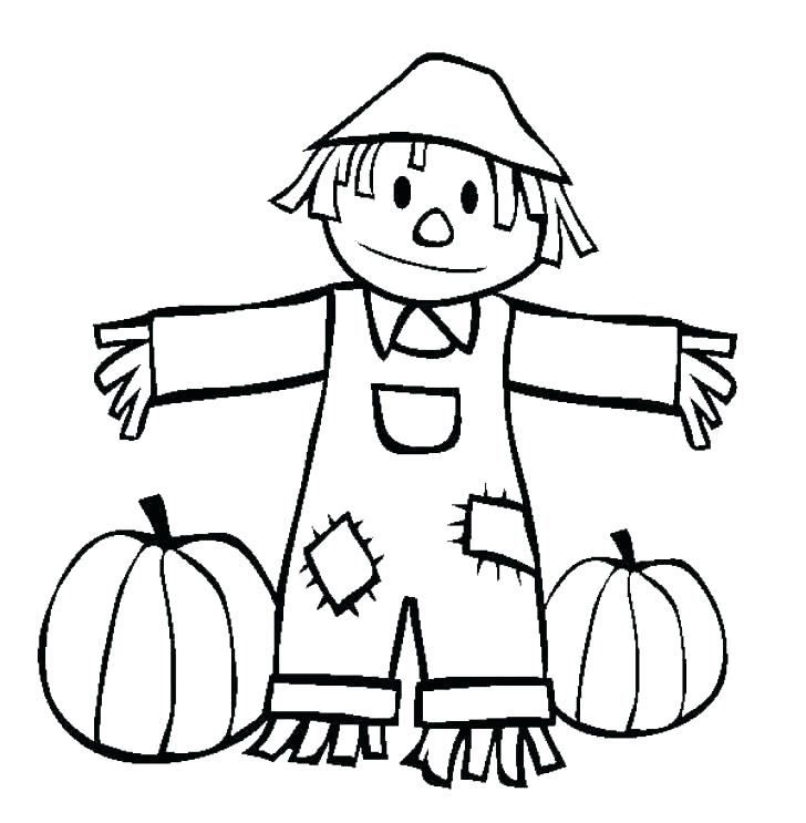 728x743 Free Printable Scarecrow Coloring Pages Best Fun Images