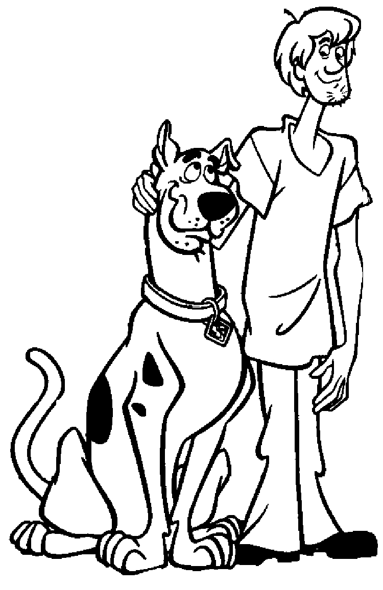 Free Printable Scooby Doo Coloring Pages