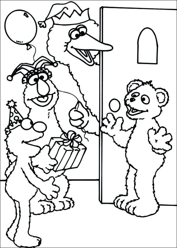 Free Printable Sesame Street Coloring Pages At Getdrawings Com