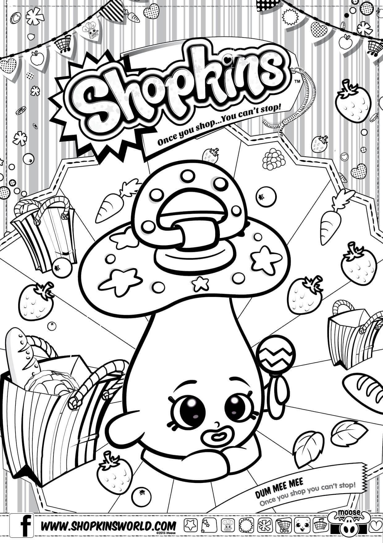 photograph regarding Free Printable Shopkins Coloring Pages identified as Absolutely free Printable Shopkins Coloring Web pages at