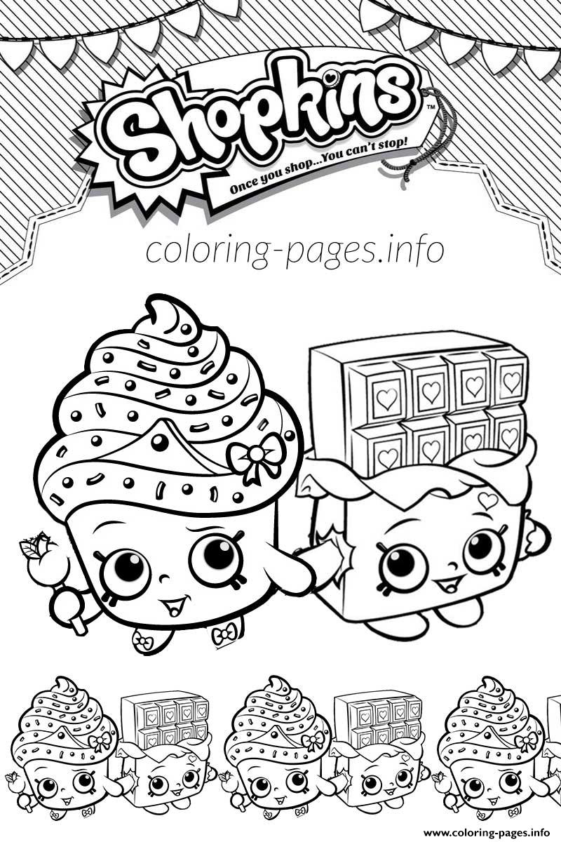 Free Printable Shopkins Coloring Pages At Getdrawingscom Free For