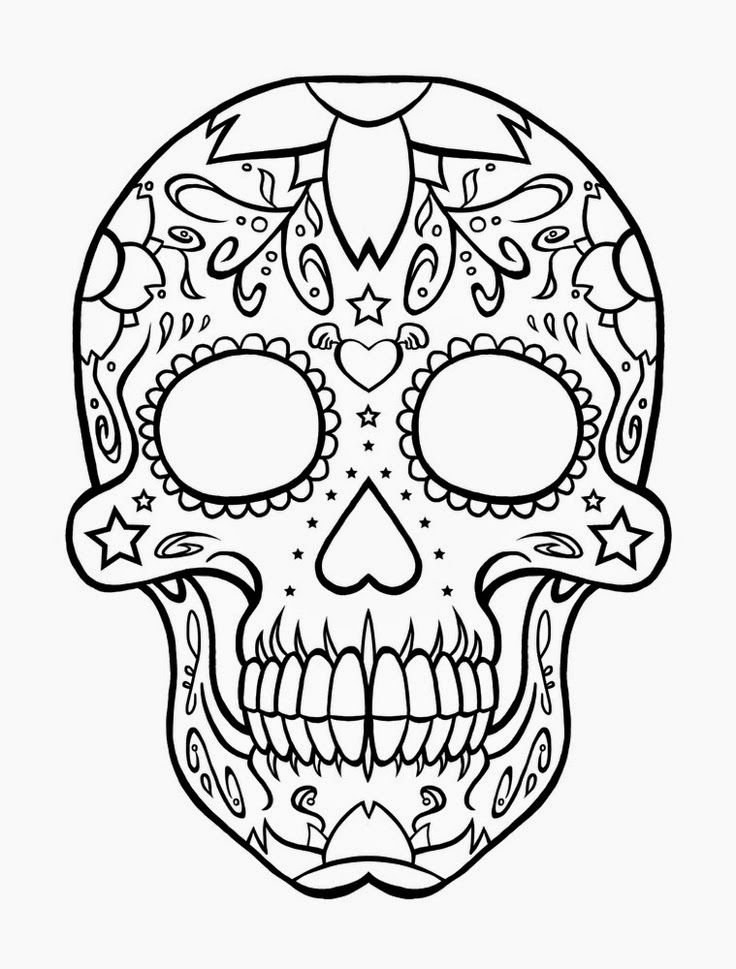 Free Printable Skull Coloring Pages at GetDrawings.com ...
