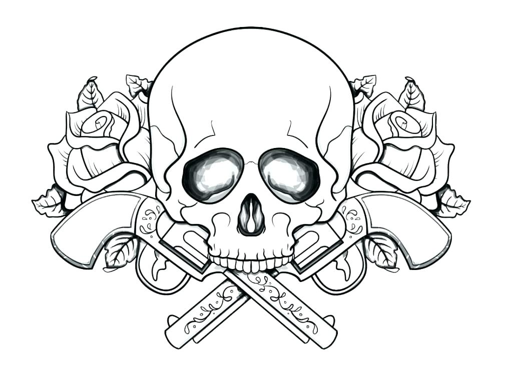Free Printable Skull Coloring Pages At Getdrawings Free Download