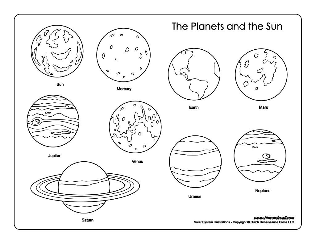 1024x791 Solar System Coloring Pages Printables Classroom Doodles Within