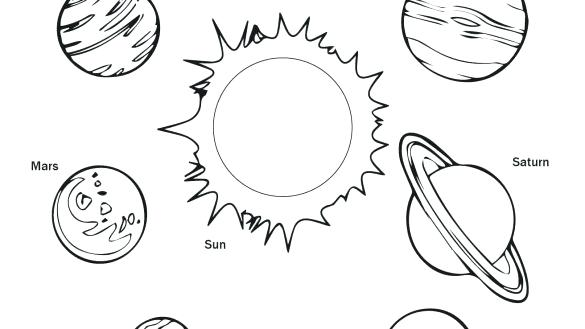 585x329 Solar System Coloring Pages