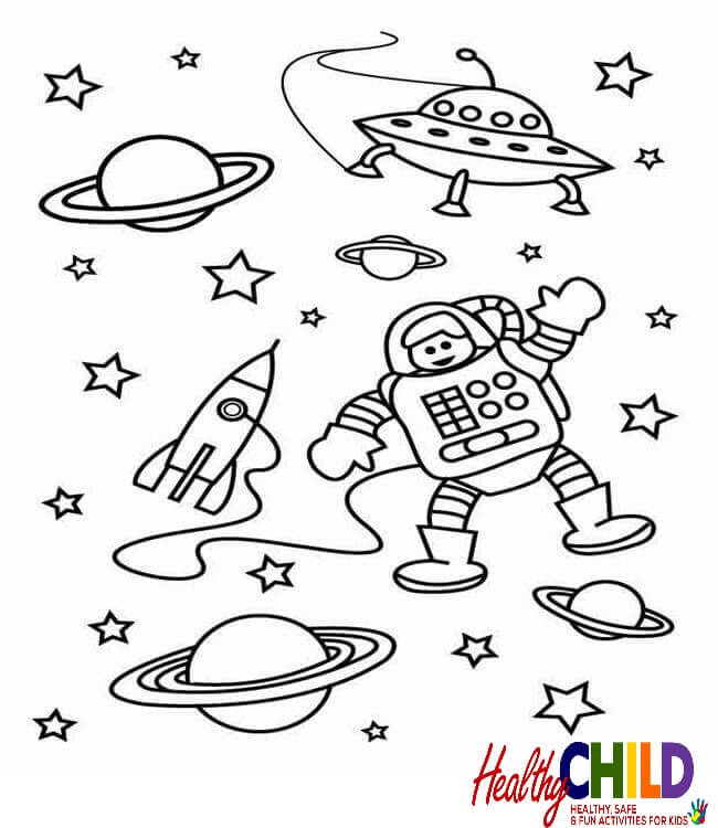 650x750 Space Coloring Sheets Printable