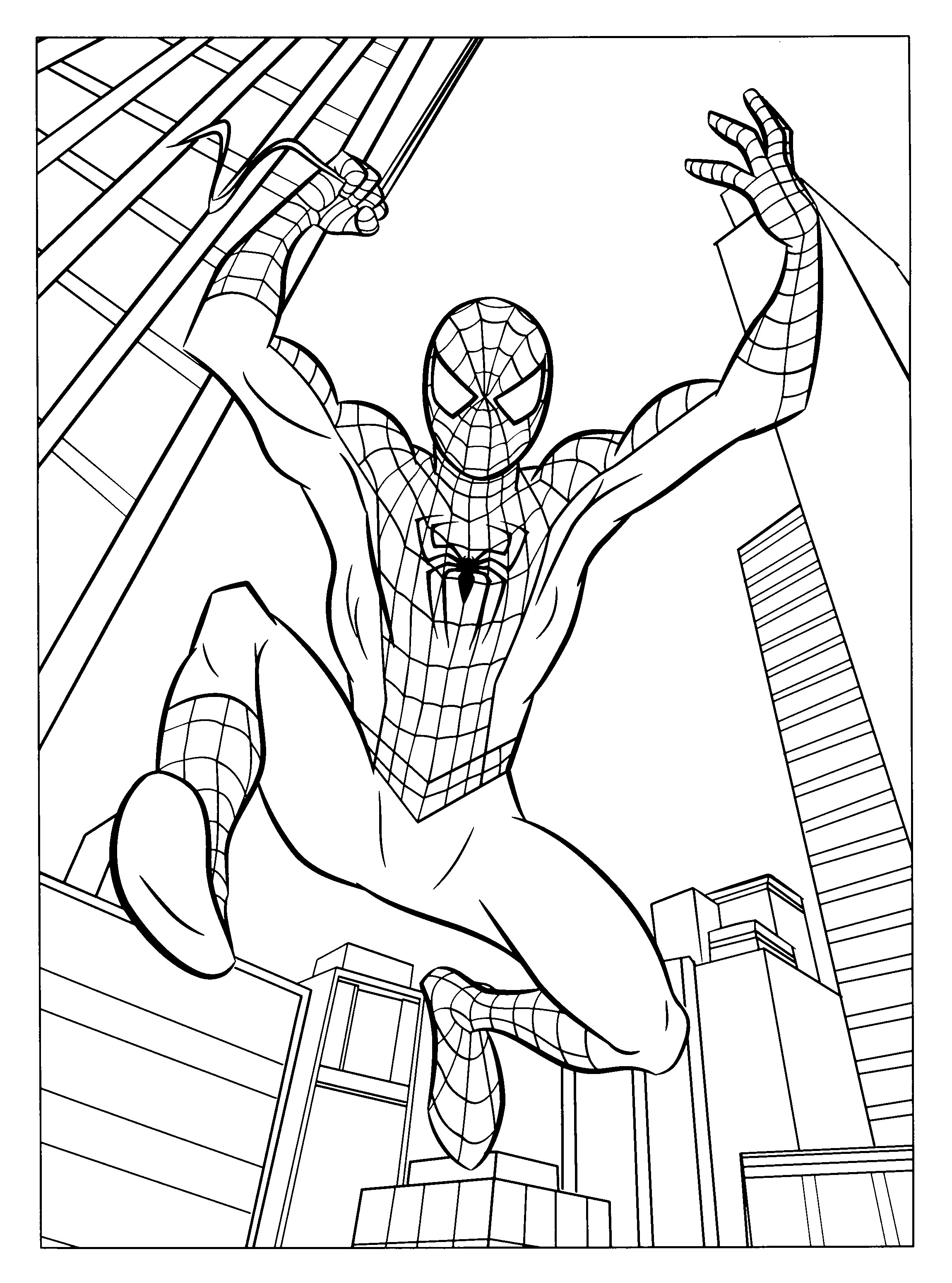 2300x3100 Quality Free Printable Spiderman Coloring Page