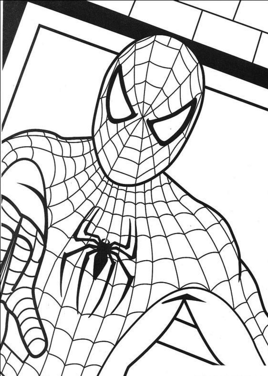 1024x1437 Best Spiderman Coloring Pages For Kids Free Printable