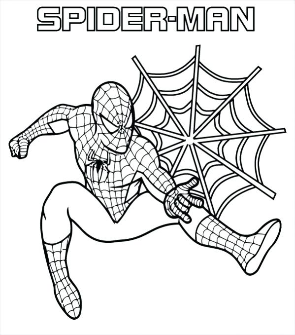 599x679 Spiderman Logo Coloring Pages Coloring S Fresh Coloring