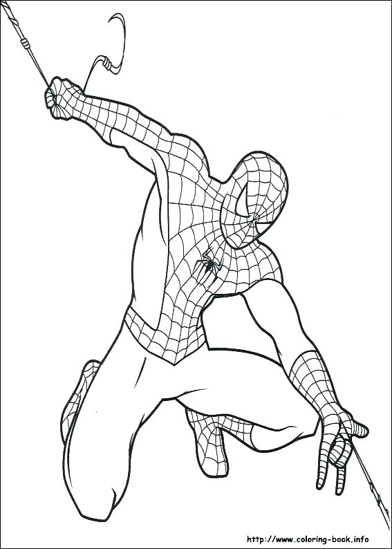 567x794 Spiderman Coloring Pages Free To Print