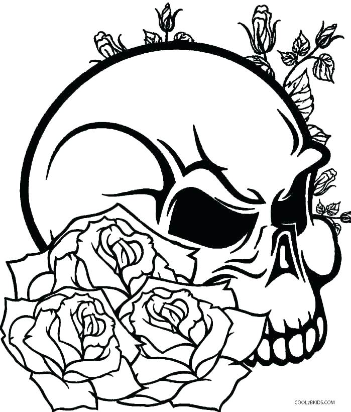 699x820 Sugar Skull Color Sugar Skull Color Skull Coloring Pages Printable