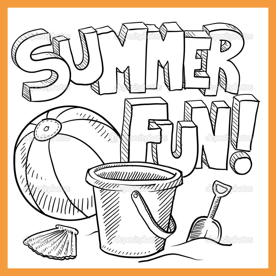 1084x1084 Summer Coloring Sheets Resume Pdf