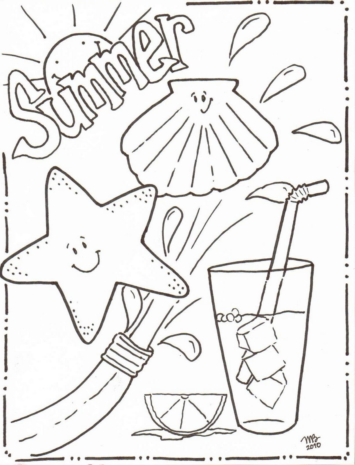 1224x1600 Fun Free Printable Summer Coloring Pages For Kids Good Ones