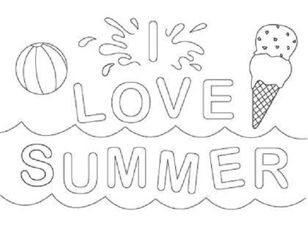 600x457 Printable Summer Coloring Pages Children Coloring Pages Trend