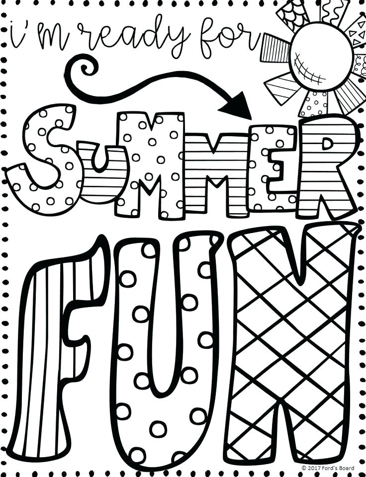 736x960 Printable Summer Pictures To Colour Kids Coloring Inspirational