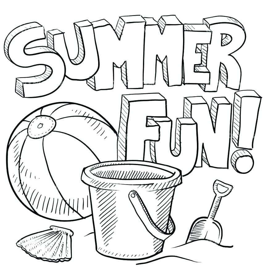 878x878 Summer Colouring Pictures Printables Kids Coloring Pages