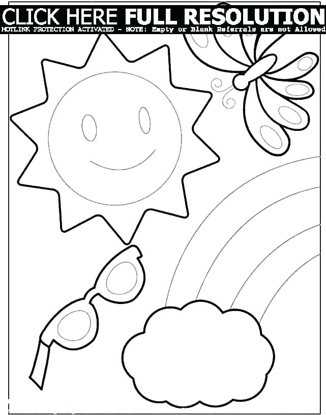 641x815 Printable Summer Coloring Pages Icontent