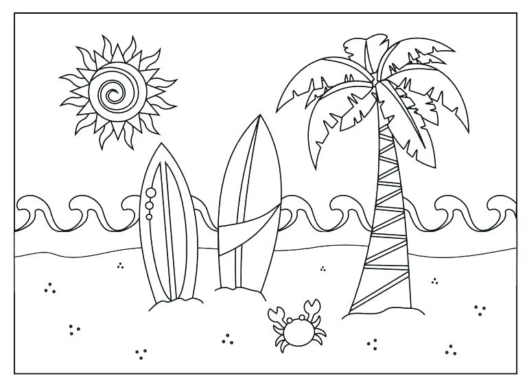768x558 Coloring Pages Beach Beach Coloring Pages Best Of Beach Coloring