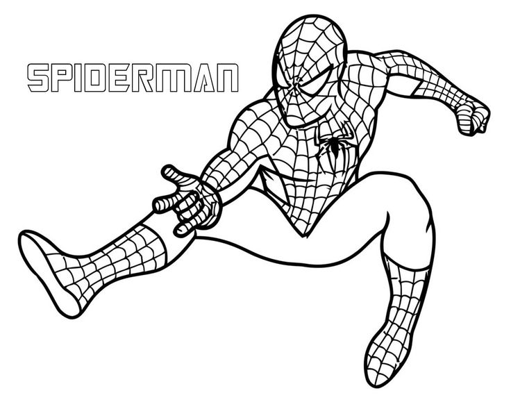 736x576 Superhero Coloring Pages Easy Free Printable Superhero Coloring