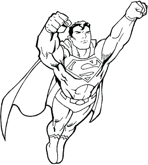 483x537 Superhero Coloring Pages For Kids Superman Printable Coloring