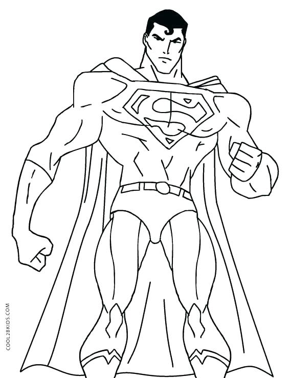 567x739 Coloring Pages Of Superman Superman Coloring Page Superman
